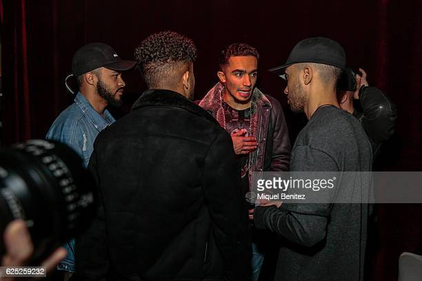 Aika Jones singer of Mic Lowry band on backstage during the 'Purpose Tour' Party, Justin Bieber's after concert at Pacha Barcelona on November 22,...