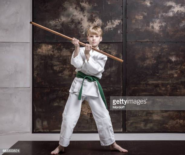 Aikido Boy And His Wooden Bokken