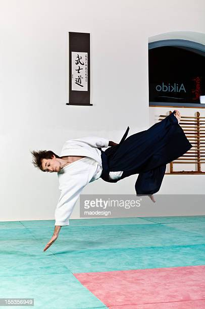 Aikido falling technique