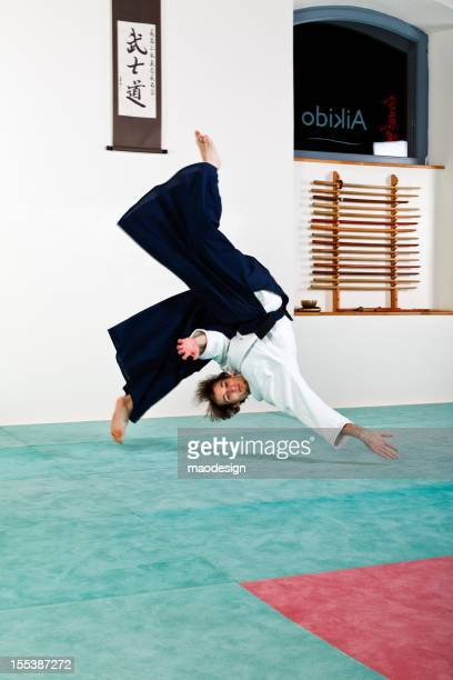 Aikido falling technique