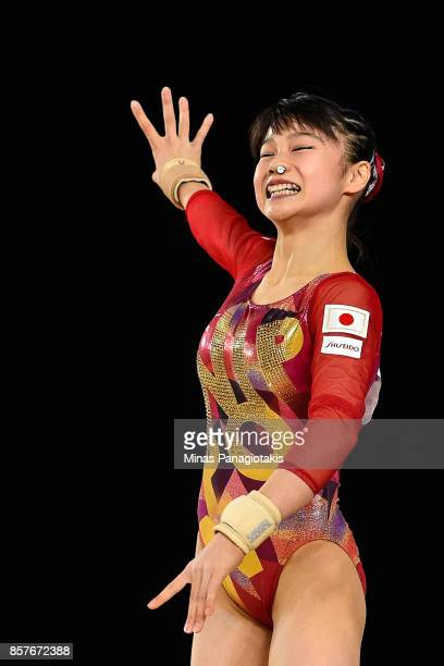 Aiko Sugihara of Japan competes on the floor exercise during the qualification round of the Artistic Gymnastics World Championships on October 4 2017...