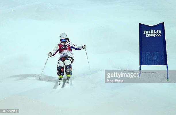 Aiko Uemura of Japan competes during Ladies' Moguls Qualification at Rosa Khutor Extreme Park on February 6 2014 in Sochi Russia