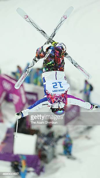 Aiko Uemura of Japan competes in the Ladies' Moguls Final on day one of the Sochi 2014 Winter Olympics at Rosa Khutor Extreme Park on February 8 2014...