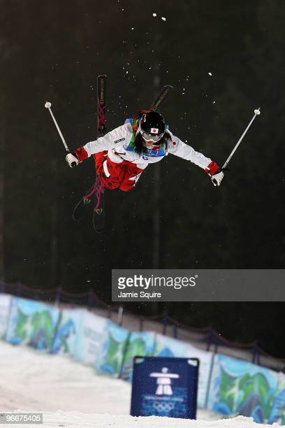 Aiko Uemura of Japan competes in the women's freestyle skiing moguls final on day 2 of the Vancouver 2010 Winter Olympics at Cypress Mountain Resort...