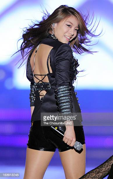 Ailee performs onstage during 2012 Hallyu Dream Festival at GyeongjuPlayground on September 23 2012 in Gyeongju South Korea