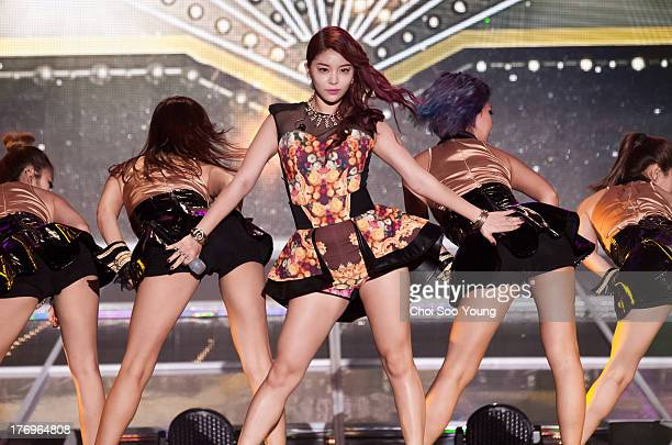 Ailee performs onstage during '2013 Korea Music Festival In Sokcho' on August 10 2013 in Sokcho South Korea