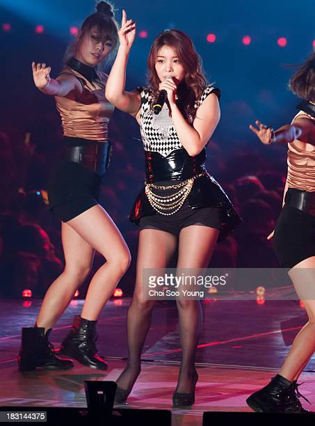 Ailee performs onstage during the G Market Concert 'Stay G6' at Olympic Gymnastics Stadium on October 3 2013 in Seoul South Korea
