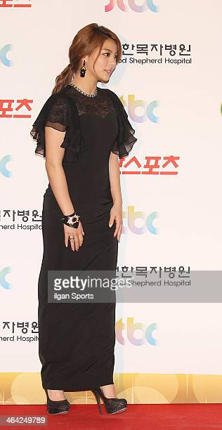 Ailee poses for photographs during the 28th Golden Disk Awards at Kyunghee Grand Peace Palace on January 16 2014 in Seoul South Korea