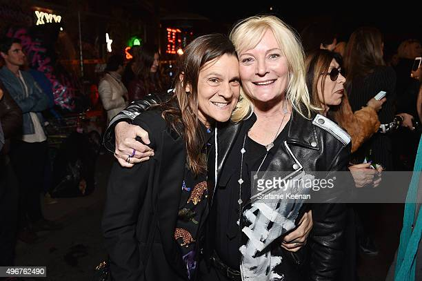 Aileen Getty and Ariadne Getty attend the August Getty Atelier SS 2016 'The Thread Of Man' Presentation With David LaChapelle at Universal Studios...