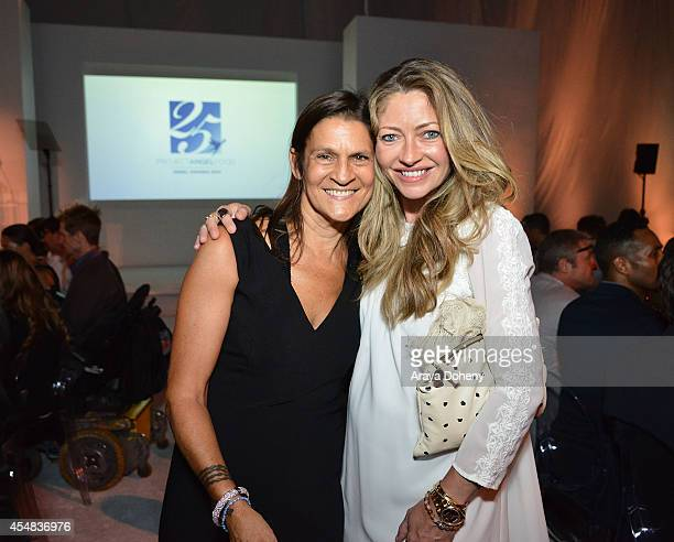 Aileen Getty and Rebecca Gayheart attend the Project Angel Food's 25th Anniversary Angel Awards 2014 honoring Aileen Getty with the Inaugural...
