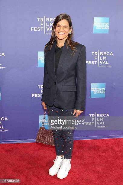 """Aileen Getty attends HBO's """"The Battle of amfAR"""" premiere at Tribeca Film Festival on April 24, 2013 in New York City."""