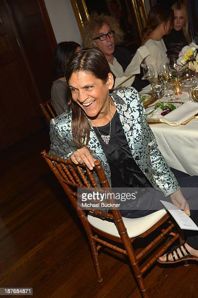 Aileen Getty attends the Sabine G Jewelry Dinner at Balthazar and Rosetta Getty's home on November 8 2013 in Los Angeles California