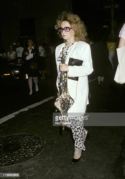 Aileen Mehle during Funeral for Carter Cooper - July 26, 1988 at St. James Church in New York City, New York, United States.