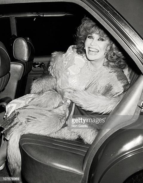 Aileen Mehle during Mary Lasker's Annual Christmas Party December 14 1987 at La Grenouille Restaurant in New York City New York United States