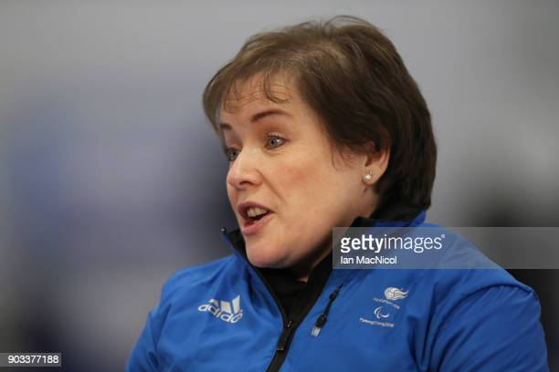 Aileen Nelson is seen at announcement of the ParalympicsGB Wheelchair Curling Team at The National Curling Centre on January 10 2018 in Stirling...