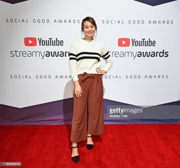 Aileen Xu attends the 2019 Streamys Social Good Awards at YouTube Space LA on December 09 2019 in Los Angeles California