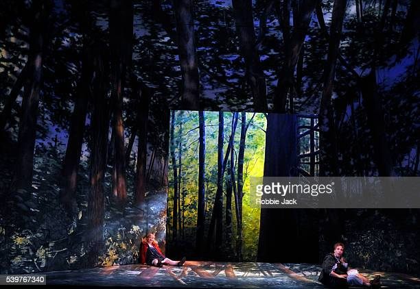 Ailish Tynan as Gretel and Christine Rice as Hansel in the Royal Opera's production of Engelbert Humperdinck's Hansel Und Gretel directed by Moshe...