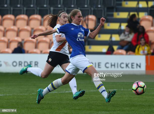 Aillen Whelan of Everton Ladies during Women's Super League 2 Spring Series match between London Bees against Everton Ladies at The Hive Barnet FC on...