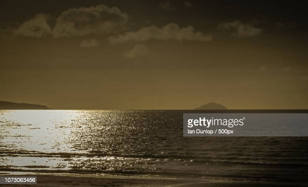Ailsa Craig in the Sunset