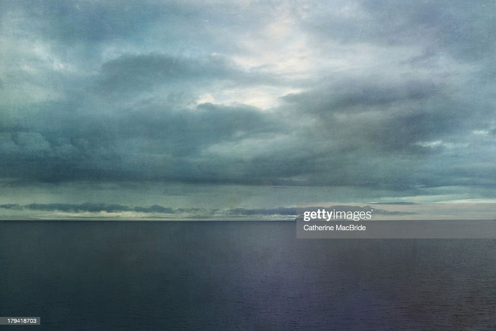 Ailsa Craig on the horizon... : Stock Photo