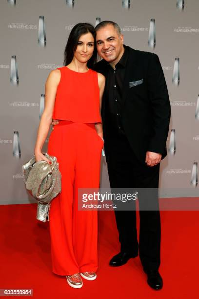 Aiman Abdallah and his wife Petra Abdallah attend the German Television Award at Rheinterrasse on February 2 2017 in Duesseldorf Germany