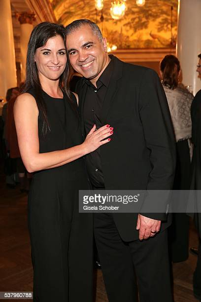 Aiman Abdallah and his wife Petra Abdallah during the Bayerischer Fernsehpreis 2016 at Prinzregententheater on June 3 2016 in Munich Germany