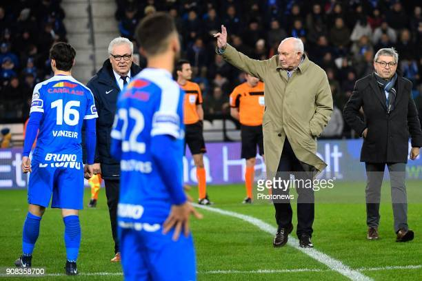 Aime Anthuenis during the Jupiler Pro League match between KRC Genk and RSC Anderlecht on January 21 2018 in Genk Belgium
