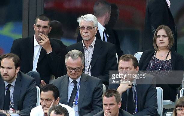 Aime Jacquet attends the UEFA Euro 2016 quarter final match between Germany and Italy at Stade Matmut Atlantique on July 2 2016 in Bordeaux France