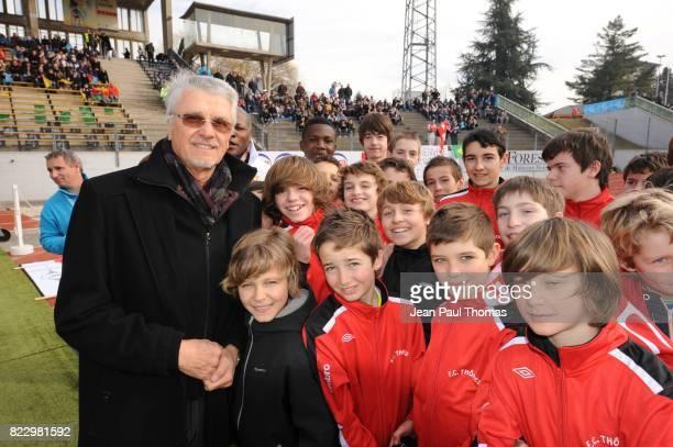 Aime JACQUET en compagnie de jeunes Evian Thonon / Chateauroux 23eme journee de Ligue 2 Annecy