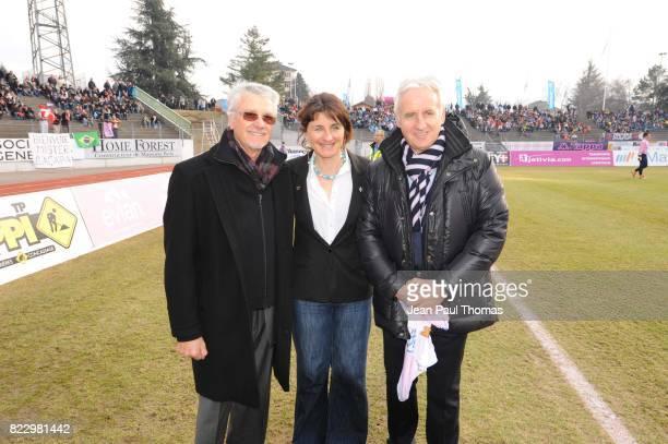 Aime JACQUET / Florence MASNADA / Patrick TROTIGNON Evian Thonon / Chateauroux 23eme journee de Ligue 2 Annecy