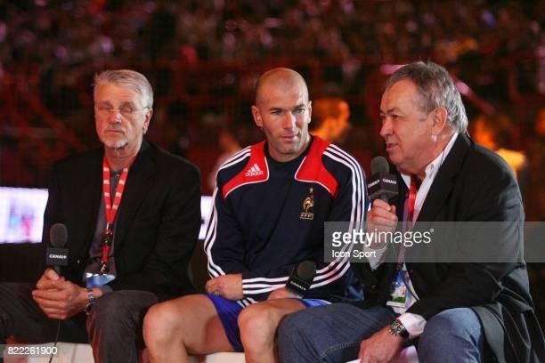 Aime JACQUET / Zinedine ZIDANE / Henri EMILE France 98 / PSG Finale du Tournoi de Futsal RTL Paris Bercy