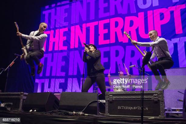 Aimee Allen from The Interrupters opens for Green Day at AccorHotels Arena on February 3 2017 in Paris France