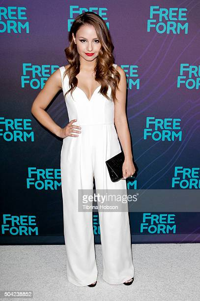 Aimee Carrero attends the Disney/ABC 2016 Winter TCA Tour at Langham Hotel on January 9 2016 in Pasadena California