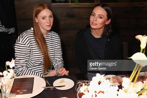 Aimee Croysdill and Laura Haddock attend the Lee Body Optix by Lee Jeans dinner at London Edition Basement on March 14 2018 in London England