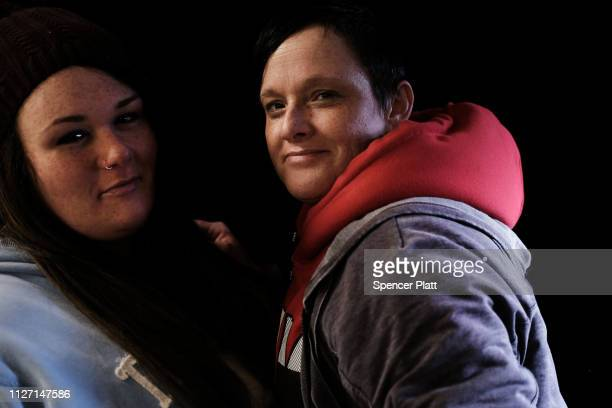 Aimee Dean and Kimber McKenzie wait to receive assistance at a Remote Area Medical Clinic on February 03 2019 in Knoxville Tennessee Friday was the...