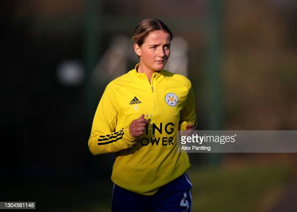 Aimee Everett of Leicester City during the Barclays FA Women's Championship match between Leicester City Women and Crystal Palace Women at Farley Way...