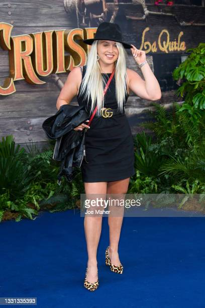 """Aimee Fuller attends Disney's """"Jungle Cruise"""" UK premiere at Cineworld Leicester Square on July 29, 2021 in London, England."""