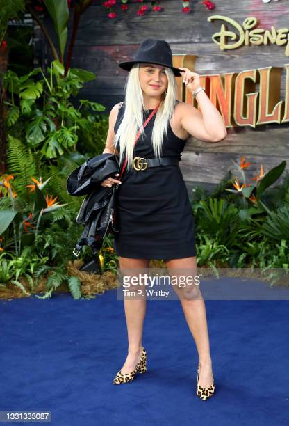 """Aimee Fuller attendsDisney's """"Jungle Cruise"""" special screening at Cineworld Leicester Square on July 29, 2021 in London, England."""