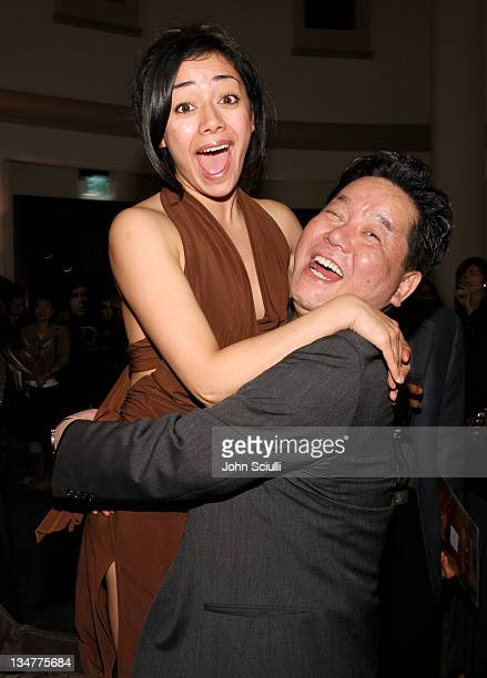 Aimee Garcia and Hyungrae Shim director during Younggu and Showbox Art Presents Special Screening of DWars at Paramount Theatre in West Hollywood...