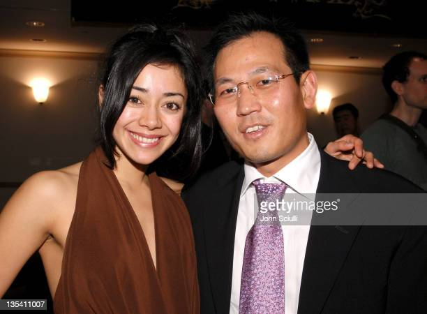 """Aimee Garcia and James B. Kang during Younggu and Showbox Art Presents Special Screening of """"D-Wars"""" at Paramount Theatre in West Hollywood,..."""