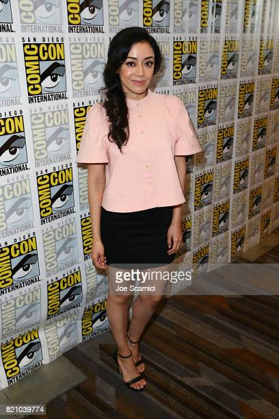 Aimee Garcia arrives at the Lucifer press line at ComicCon International 2017 on July 22 2017 in San Diego California