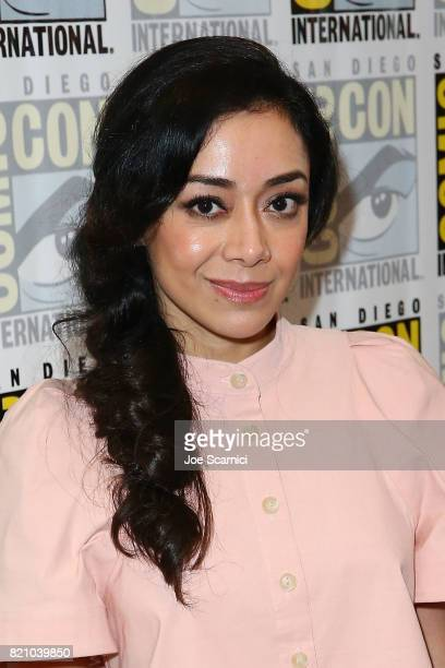 Aimee Garcia arrives at the 'Lucifer' press line at ComicCon International 2017 on July 22 2017 in San Diego California