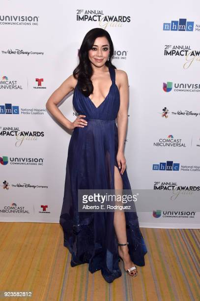 Aimee Garcia attends the 21st annual NHMC Impact Awards Gala at Regent Beverly Wilshire Hotel on February 23, 2018 in Beverly Hills, California.