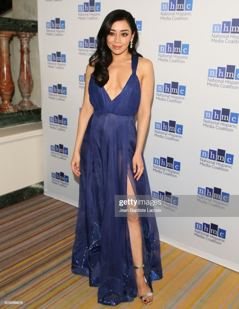 Aimee Garcia attends the 21th Annual National Hispanic Media Coalition Impact Awards Gala on February 23, 2018 in Beverly Hills, California.