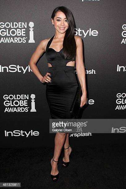 Aimee Garcia attends The Hollywood Foreign Press Association And InStyle Celebrates The 2014 Golden Globe Awards Season at Fig Olive Melrose Place on...
