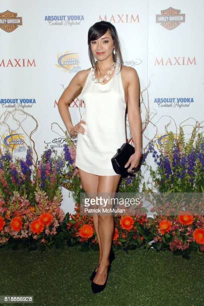 Aimee Garcia attends THE MAXIM HOT 100 PARTY 2010 at Paramount Studios on May 19 2010 in Hollywood California