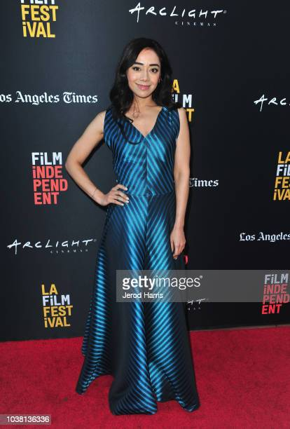Aimee Garcia attends the screening of 'Saint Judy' during the 2018 LA Film Festival at ArcLight Culver City on September 22 2018 in Culver City...
