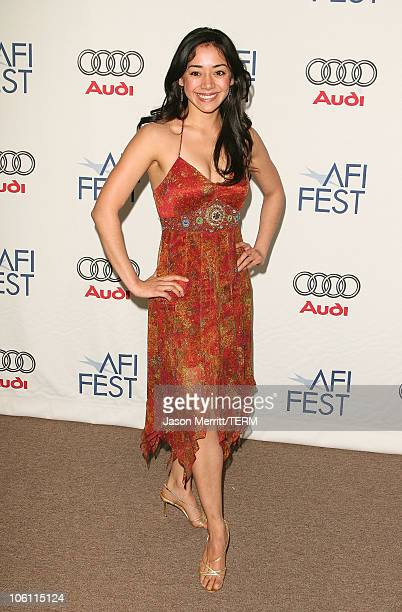 Aimee Garcia during AFI Film Festival Lies Alibis Premiere Arrivals at Arclight in Hollywood California United States