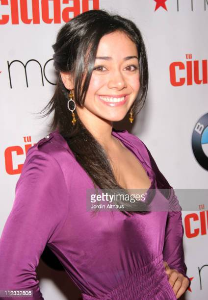 Aimee Garcia during Tu Ciudad and BMW Celebrate Tu Ciudad's 2006 Hip Hop Now Issue at The Lodge in Beverly Hills, California, United States.
