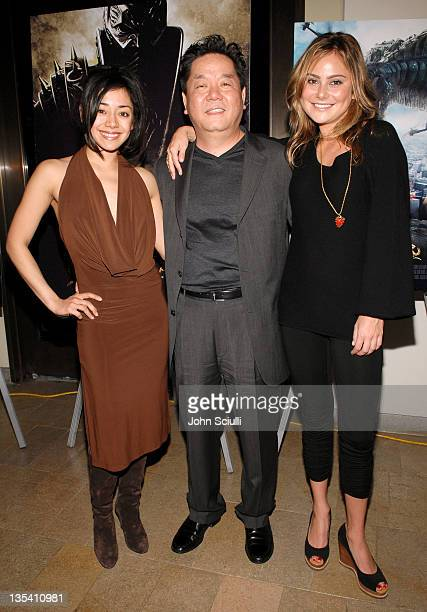 Aimee Garcia Hyungrae Shim director and Amanda Brooks